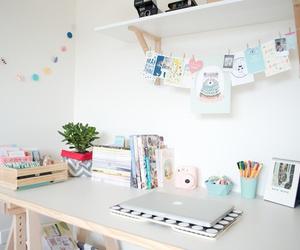 room, desk, and bedroom image