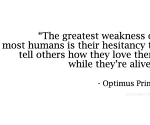quotes, love, and optimus prime image