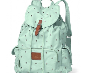 green, pink, and back pack image