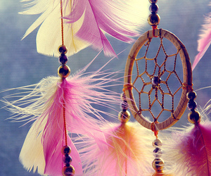 boho, dreamcatcher, and feather image
