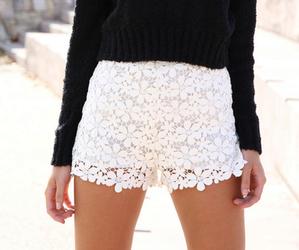 fashion, white, and shorts image