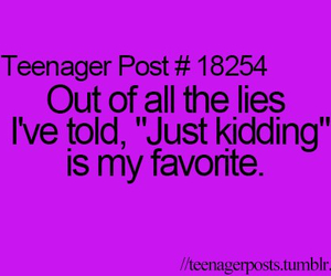 teenager post, funny, and lies image