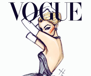 vogue, dress, and drawing image
