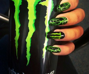 green, nails, and black image