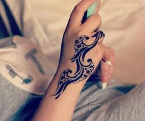 tattoo, girl, and henna image
