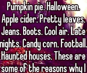 fall, football, and Halloween image