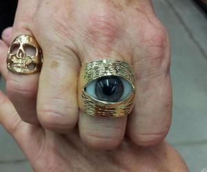 ring, gold, and style image