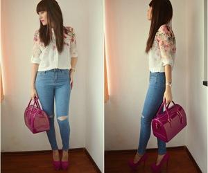 denim, fashion, and j'adore fashion image