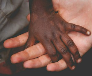 baby, African, and hand image