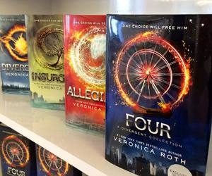 four, divergent, and books image