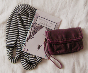 book, scarf, and bag image