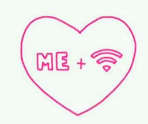 amore, wifi, and love image