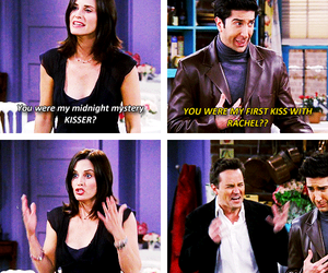 friends, chandler bing, and monica geller image