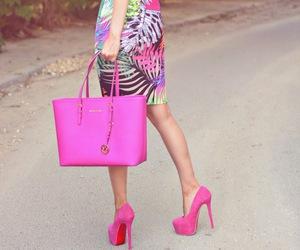 fashion, pink, and bag image