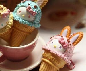 cute, hello kitty, and ice cream image