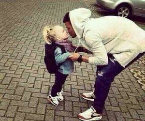 dad, happy, and little girl image