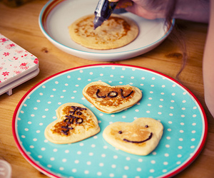 pancakes, food, and heart image