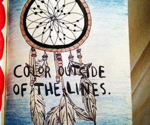 wreck this journal, dreamcatcher, and color image