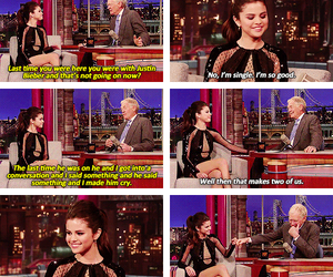 david letterman, selena gomez, and quotes image