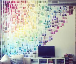 room, rainbow, and wall image