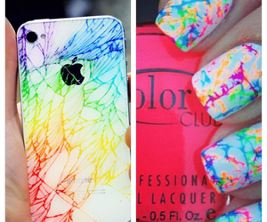 nails, colorful, and iphone image