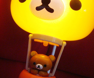 rilakkuma, kawaii, and lamp image