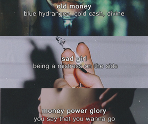 lana del rey, sad girl, and old money image