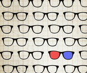 glasses and 3d image