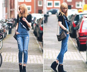 fashion, dungarees, and style image