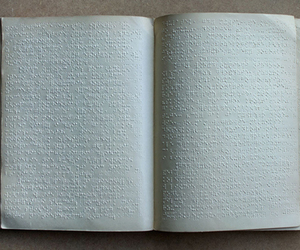blind, book, and braille image