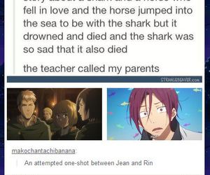 anime, funny, and horse image