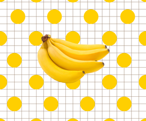 banana, yellow, and grunge image
