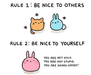 cute, chibird, and bunny image