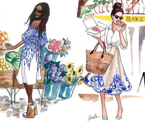 chanel, vintage, and floral image