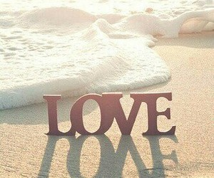 love, beach, and sea image