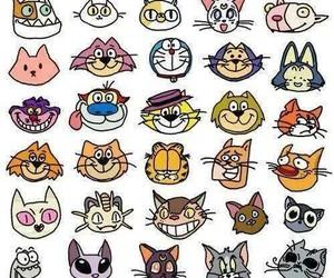 cat, cartoon, and kitty image