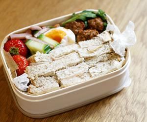 bento, bento box, and food image
