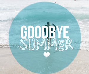summer, goodbye, and beach image