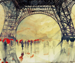 paris, art, and painting image