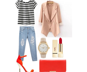 casual, fashion, and red image