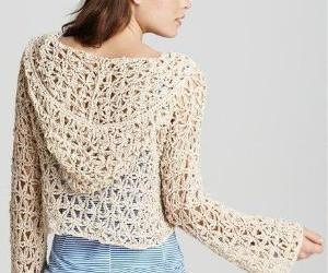 crochet, sweater, and freepeople image