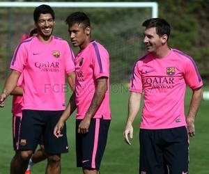 messi, neymar, and suarez image