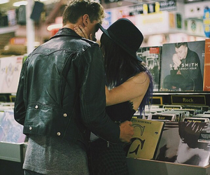 couple, music, and pale image