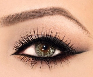 girl, makeup, and eye image