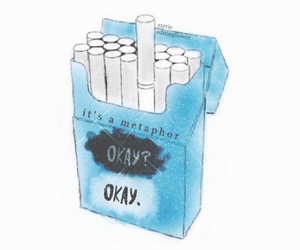 the fault in our stars, metaphor, and okay image