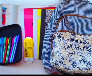 bag, books, and colors image