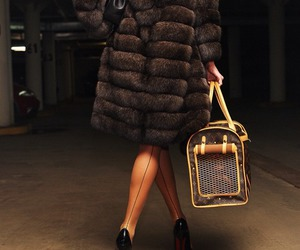 fur, luxury, and bag image