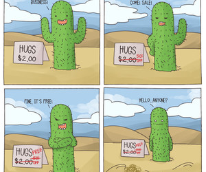 hugs and cactus image