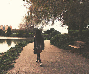 girl, vintage, and park image