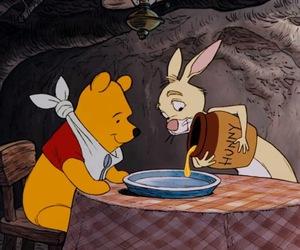 winnie the pooh, disney, and rabbit image